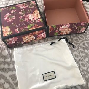GUCCI 💯 authentic box and GUCCI dust bag